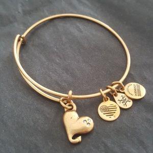 Heart Alex and Ani bracelet